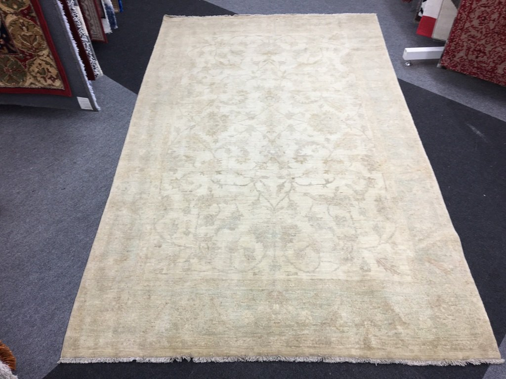 Genuine Hand Knotted Chobi Rug Blue Cream 2 08x3 31m