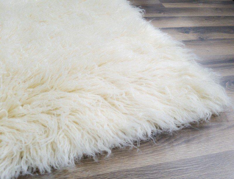 Original New Zealand Wool Flokati Shag Rug Natural